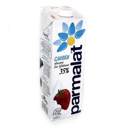 """Сливки - Крем сливочный """"Parmalat"""" 35% 1л"""