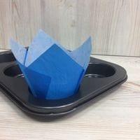 Бумажный тюльпан - синий, 12шт