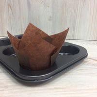 Бумажный тюльпан - коричневый, 12шт