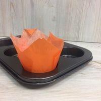 Бумажный тюльпан - оранжевый, 12шт