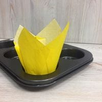 Бумажный тюльпан - желтый, 12шт