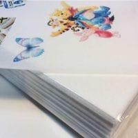 Вафельная бумага А4 тонкая - белая, 1 лист