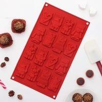 """Силиконовая форма для шоколада """"Новый год"""" 16 ячеек"""