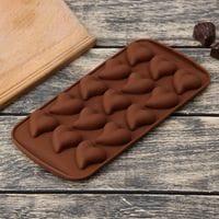 """Силиконовая форма для мармелада и шоколада """"Сердце 3D"""" 15 ячеек"""