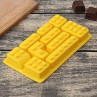 """Силиконовая форма для мармелада и шоколада """"Лего детали"""" 10 ячеек"""
