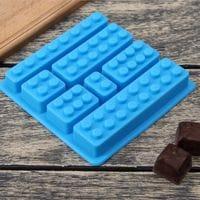 """Силиконовая форма для мармелада и шоколада """"Лего детали"""" 7 ячеек"""