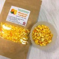 Апельсин с цедрой сублимационной сушки, кусочки 1-5мм 20гр