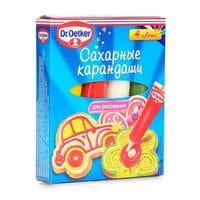 Dr.Oetker цветные сахарные карандаши 4шт