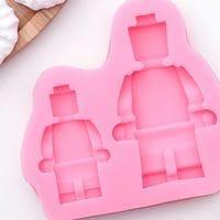 """Силиконовый молд """"Лего робот"""" 2 ячейки"""