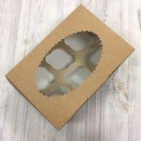 Коробка для кексов ECO MUF 6 ячеек