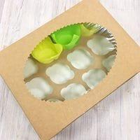 Коробка для кексов ECO MUF 12 ячеек