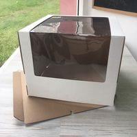 Коробка для торта с увеличенным окном 26*26*21см