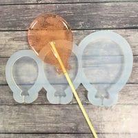 """Силиконовая форма для леденцов и шоколада """"Воздушные шарики"""" 3 ячейки"""