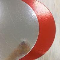 Подложка красная/серебро 2,5мм - 28см