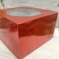 Коробка для торта красная 30*30*19см