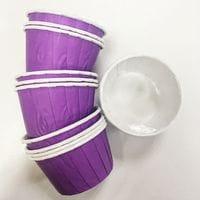 Маффин ламинированный - Фиолетовый 12шт