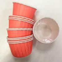 Маффин ламинированный - Светло-розовый 12шт