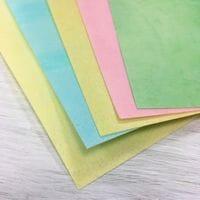 Вафельная бумага А4 тонкая - микс, 5 листов