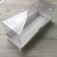 Коробка под рулет ПРЕМИУМ БЕЛАЯ с пластиковой крышкой 30*12*12