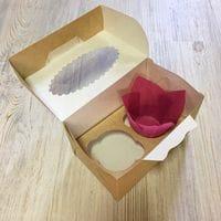 Коробка для кексов ECO MUF 2 ячейки