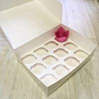 Коробка для кексов мелованная 12 ячеек