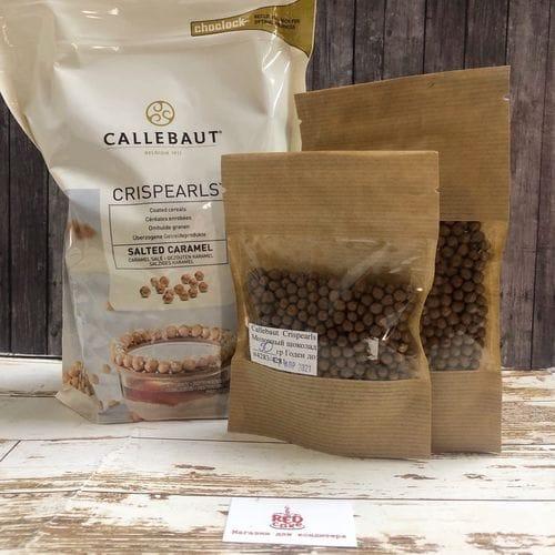 """Callebaut Crispearls хрустящие шарики """"Соленая карамель"""""""