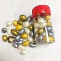 Драже арахис в шоколаде золото/серебро/жемчуг