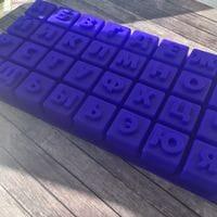 """Силиконовая форма для шоколада """"Алфавит"""" кубики"""