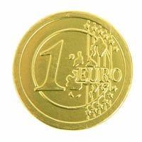 Шоколадная монетка ЕВРО
