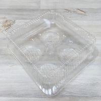 Пластиковая упаковка для кексов 4 ячейки
